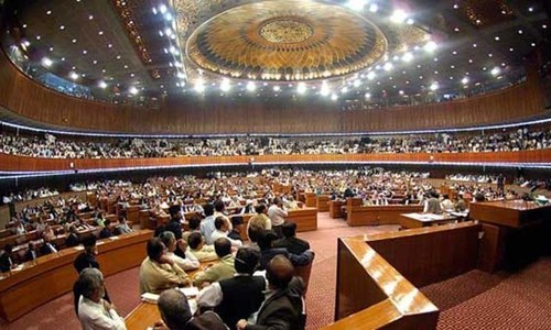 Five bills introduced in NA amid noisy protest by opposition