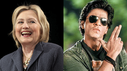 Hillary Clinton goes desi girl for Shah Rukh Khan