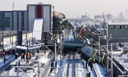 ترکی: ٹرین حادثے میں 9 افراد ہلاک، 47 زخمی