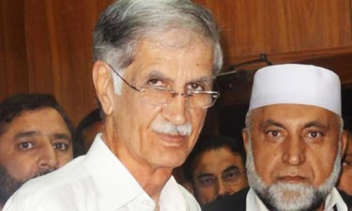 SC orders Khattak to deposit Rs1.3m for KP govt ad featuring his picture