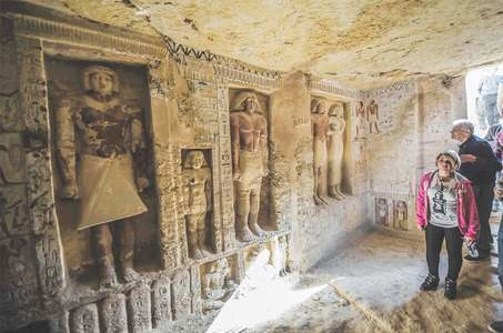 Egypt unveils ancient tomb, expects more finds