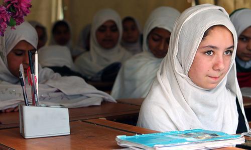 قبائلی علاقہ جات میں 79 فیصد لڑکیاں ابتدائی درجوں میں تعلیم سے کنارہ کشی کرلیتی ہیں