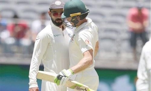 """""""کوہلی! تم ٹھنڈے رہو""""، آسٹریلین اور بھارتی کپتانوں میں تلخ کلامی"""