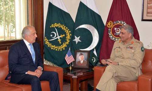 US envoy Zalmay Khalilzad discusses Afghan peace efforts with Gen Bajwa