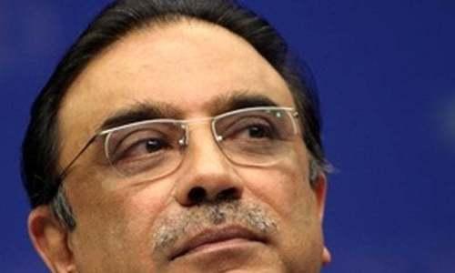Zardari's oblique warning
