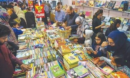 Bibliophiles throng Karachi International Book Festival on opening day