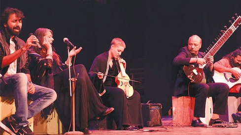 Sounds of Kolachi performs with Italian musicians at Napa
