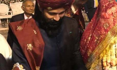 Model and PTI MPA Abbas Jaffri ties the knot