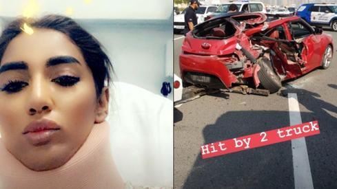 Mathira injured in deadly car crash in Dubai
