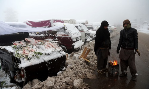 In pictures: Galiyat receive snowfall as tourists throng Murree in large numbers