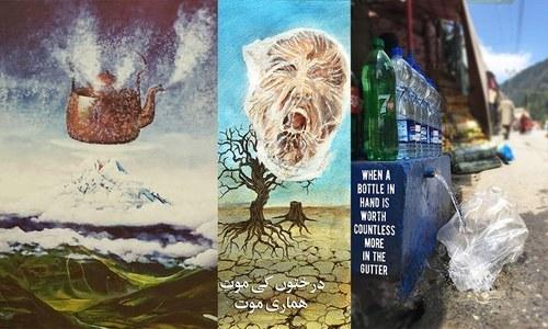 موسمیاتی تبدیلی کی خطرناک شکل جب فنکاروں نے اپنے فن کے ذریعے پہنچائی