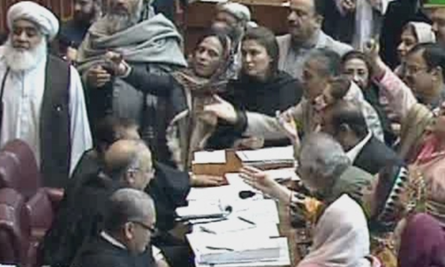 NA session suspended as ruckus ensues after opposition bill rejected in vote