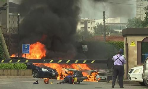 Blast, gunfire in attack at Nairobi hotel, office complex