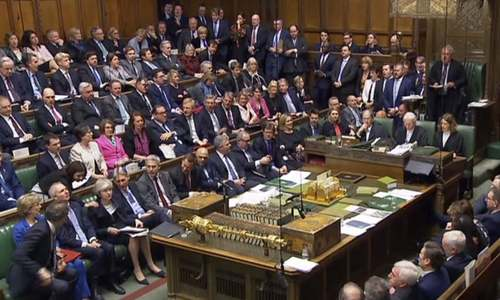 UK parliament deals historic defeat to PM May's Brexit deal