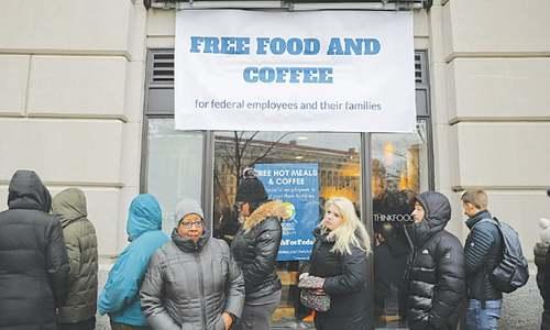 US shutdown after four weeks — food banks and job fairs