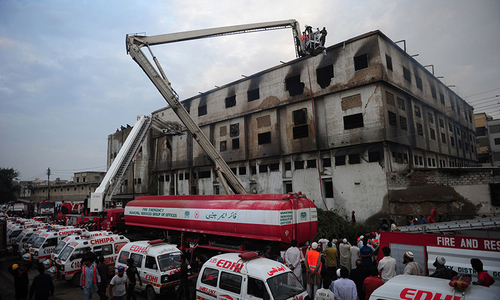 Five Baldia factory fire victims still missing, relatives testify