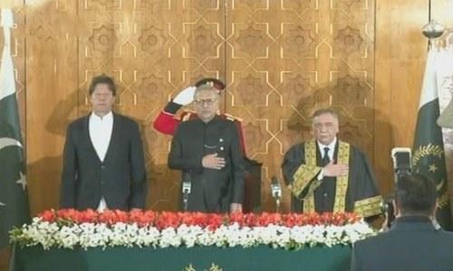 جسٹس آصف سعید کھوسہ نے 26ویں چیف جسٹس پاکستان کے عہدے کا حلف اٹھالیا