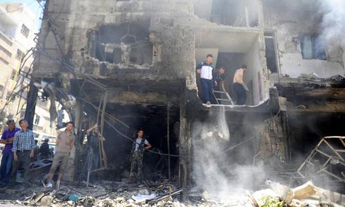 شام: اسلحہ ڈپو پر بمباری سے 11 افراد ہلاک