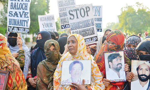 Missing persons start returning home in Balochistan