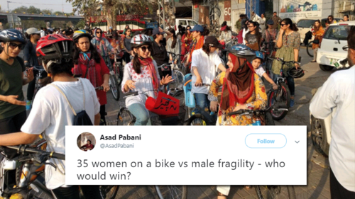 Pakistanis respond with outrage as women's bike rally in Peshawar gets cancelled