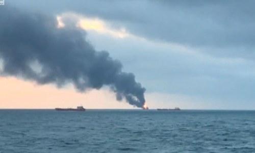 کریمیا: بحیرہ اسود میں بحری جہاز میں دھماکے سے 14 افراد ہلاک