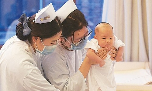 China's birth rate falls to lowest ever since 1960