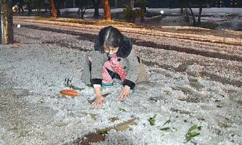 Hailstorm offers people reason to rejoice