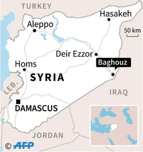 Kurdish forces overrun last IS-held village in Syria