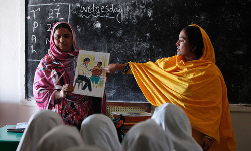 KP education department bars male employees from contacting female teachers
