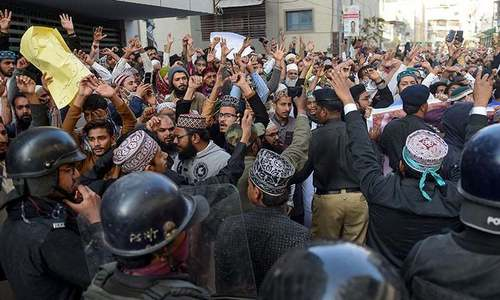 FIR registered against 39 TLP workers for holding 'violent' protest in Karachi: police