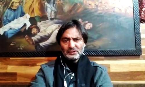 JKLF chief Yasin Malik slams global 'criminal silence' over Indian oppression in Kashmir