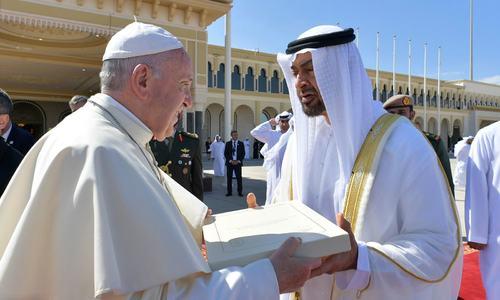 پوپ فرانسس کی پہلی بار عرب سرزمین آمد