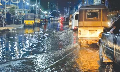 Karachi's flowing rivers of sewage