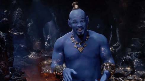 Aladdin's new teaser finally gives us Will Smith as a blue Genie