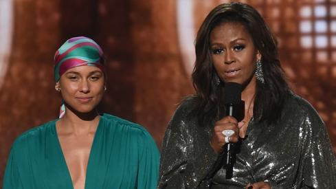Michelle Obama surprised all with her appearance at the Grammys