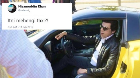PTI minister Faisal Vawda rolled up in a yellow sports car and people are calling him out for it