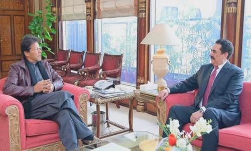 Raheel Sharif calls on PM Khan ahead of Saudi crown prince's visit