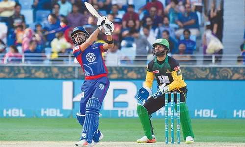 Karachi v Multan: Babar Azam smacks a boundary on first ball he faces