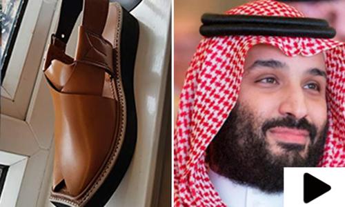سعودی ولی عہد محمد بن سلمان کے لیے پشاوری چپل تیار