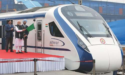 India's fastest train breaks down a day after its launch