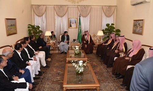 Sanjrani-led delegation of lawmakers call upon Saudi crown prince