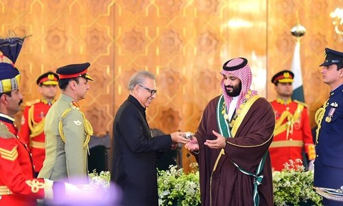President Alvi confers Nishan-e-Pakistan on Saudi crown prince
