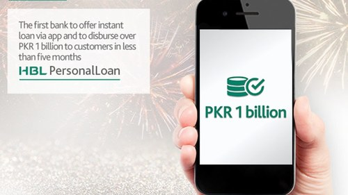 HBL marks another milestone with digital disbursement of up to Rs1 billion as personal loans