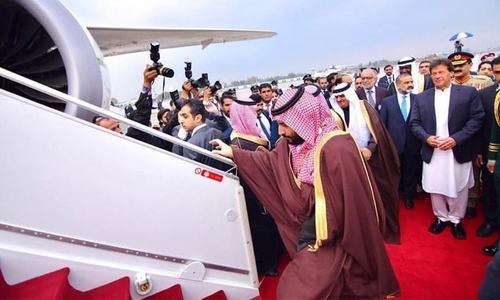 دورہ جنوبی ایشیا: سعودی ولی عہد بھارت پہنچ گئے
