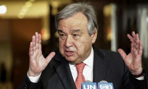 اقوام متحدہ کی پاک-بھارت کشیدگی کم کرنے کیلئے ثالثی کی پیشکش