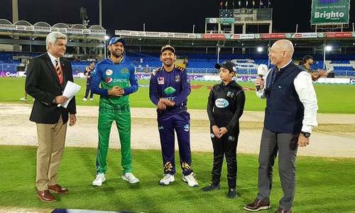 Multan Sultan 11-3 at end of 15 overs against Quetta Gladiators in PSL clash