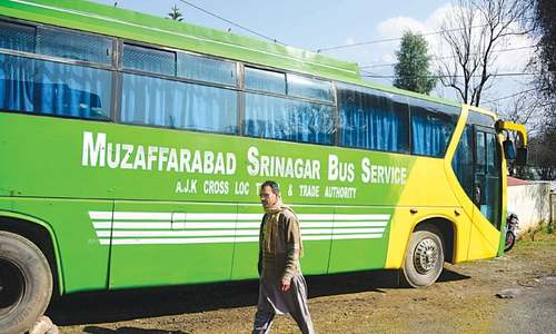 India suspends bus service to AJK