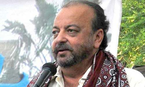 Sindh cabinet members stage sit-in outside Durrani's house