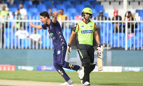 Lahore Qalandars set 144-run target for Quetta Gladiators