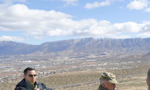 Pentagon chief getting firsthand look at US-Mexico border